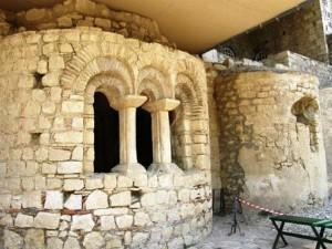 Die Ruinen des Tempels des Heiligen Nikolaus in den Myra in Lykien (jetzt Demre, Türkei)